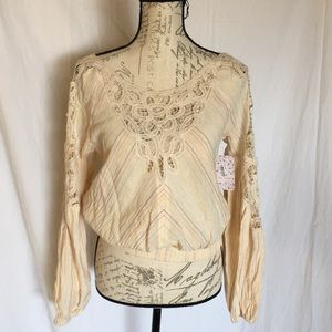 Free People Bubble Sleeve Top